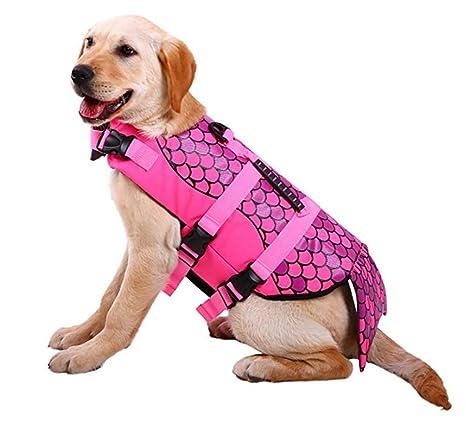 HLMF Chaleco Salvavidas para Perros Mascotas, Chaleco Salvavidas Ajustable para Chaleco Salvavidas para