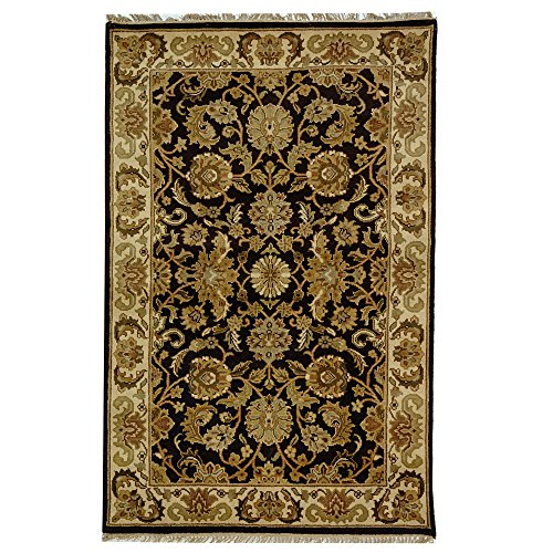 Safavieh Dynasty Collection DY239A Hand-Knotted Cola and Beige Premium Wool Area Rug (9' x 12')