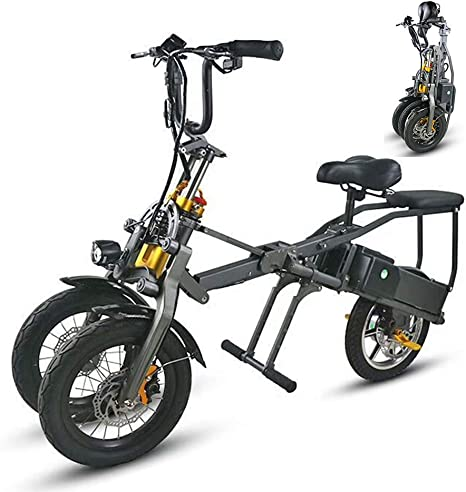 Bicicleta eléctrica de tres ruedas Bicicleta rápida plegable de un ...