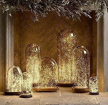 Fefe led starry string lights 100 leds 33 ft warm white copper