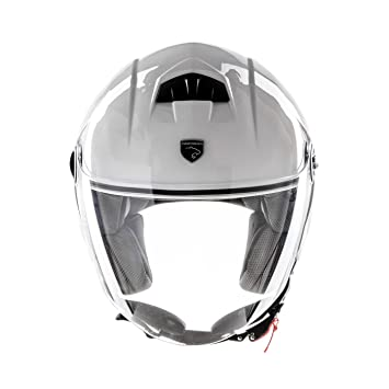Panthera casco de moto full jet Trendy blanco brillante talla L