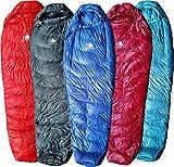 Cheap Hyke & Byke Ultralight Down Sleeping Bag: 3-Season 32 Degree Mummy Bag Under 2 LBS – The Lightest, Highest Quality Bag for Thru Hiking, Backpacking, and Camping (Blue, Regular)