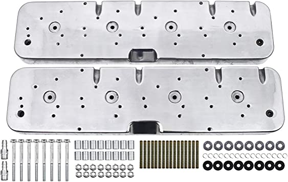 Black SBC Valve Cover Adapters//Coil Covers for LS V8