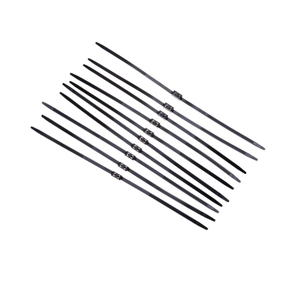 Oulensy 3pcs Lot PlasticHandcuffs Doble Flex Manguito desechable Esposas Zip Tie Manguito Negro