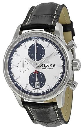 Amazoncom Alpina Alpiner Chronograph Automatic Silver Dial Black - Alpina automatic watch