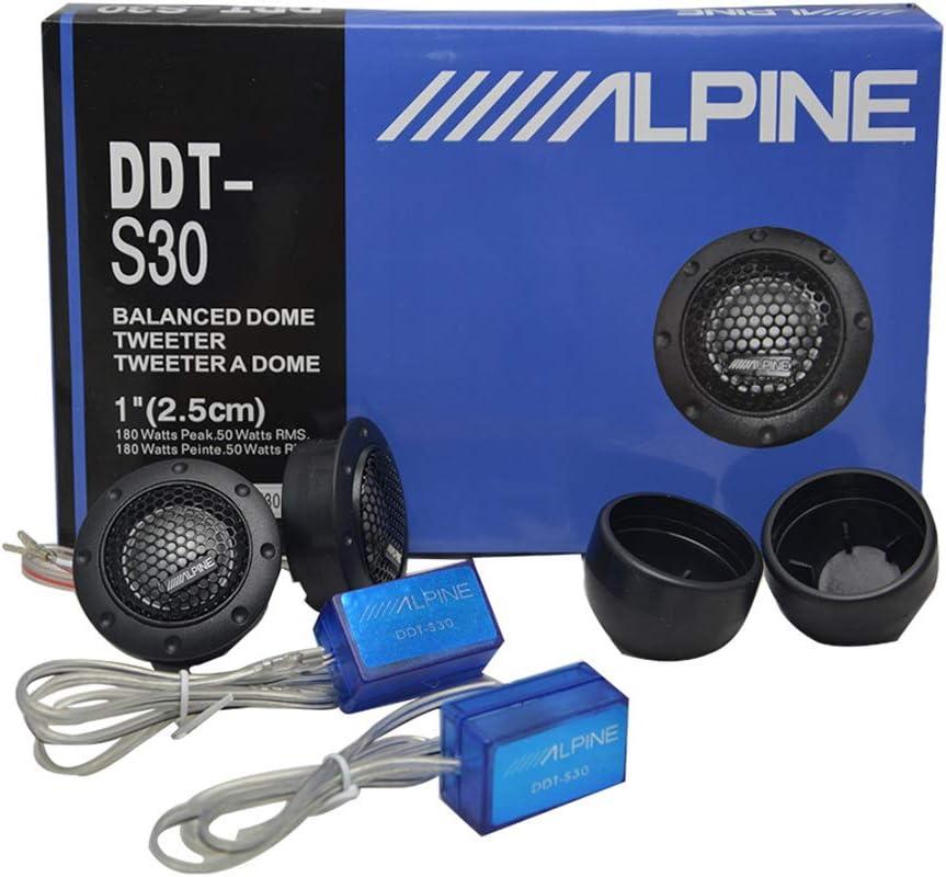 BEESCLOVER 2 Unidades de Tweeter de Coche Audio Silk Film para modificación de Coche 180 W Alta Audio Altavoz Car Audio Modificación – para Accesorios de Coche