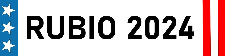 Waterproof Fade Resistant Ink Rubio 2024 Magnet Bumper Sticker