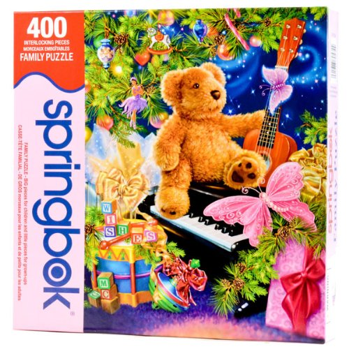 Christmas Wish Bear (Springbok Christmas Bear Wishes 400 Piece Jigsaw Puzzle)