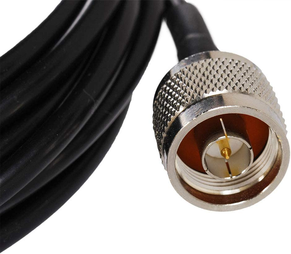 SaferCCTV RG58 N-Type Extension Line RF Coaxial Cable 3 Meter //10 feet N Male to N Female Anternna Cable