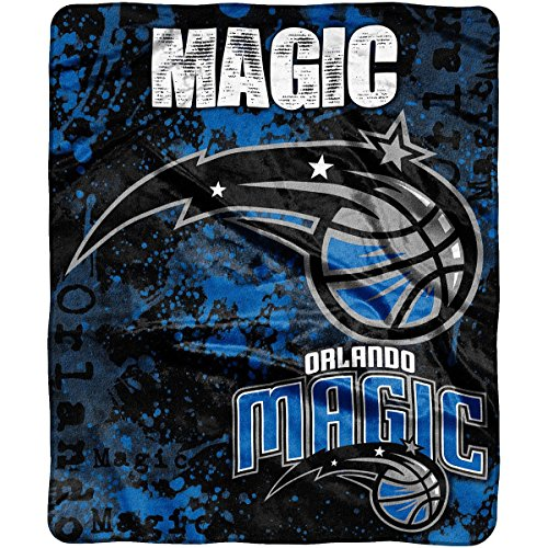 "The Northwest Company Officially Licensed NBA Orlando Magic Dropdown Plush Raschel Throw Blanket, 50"" x 60"""