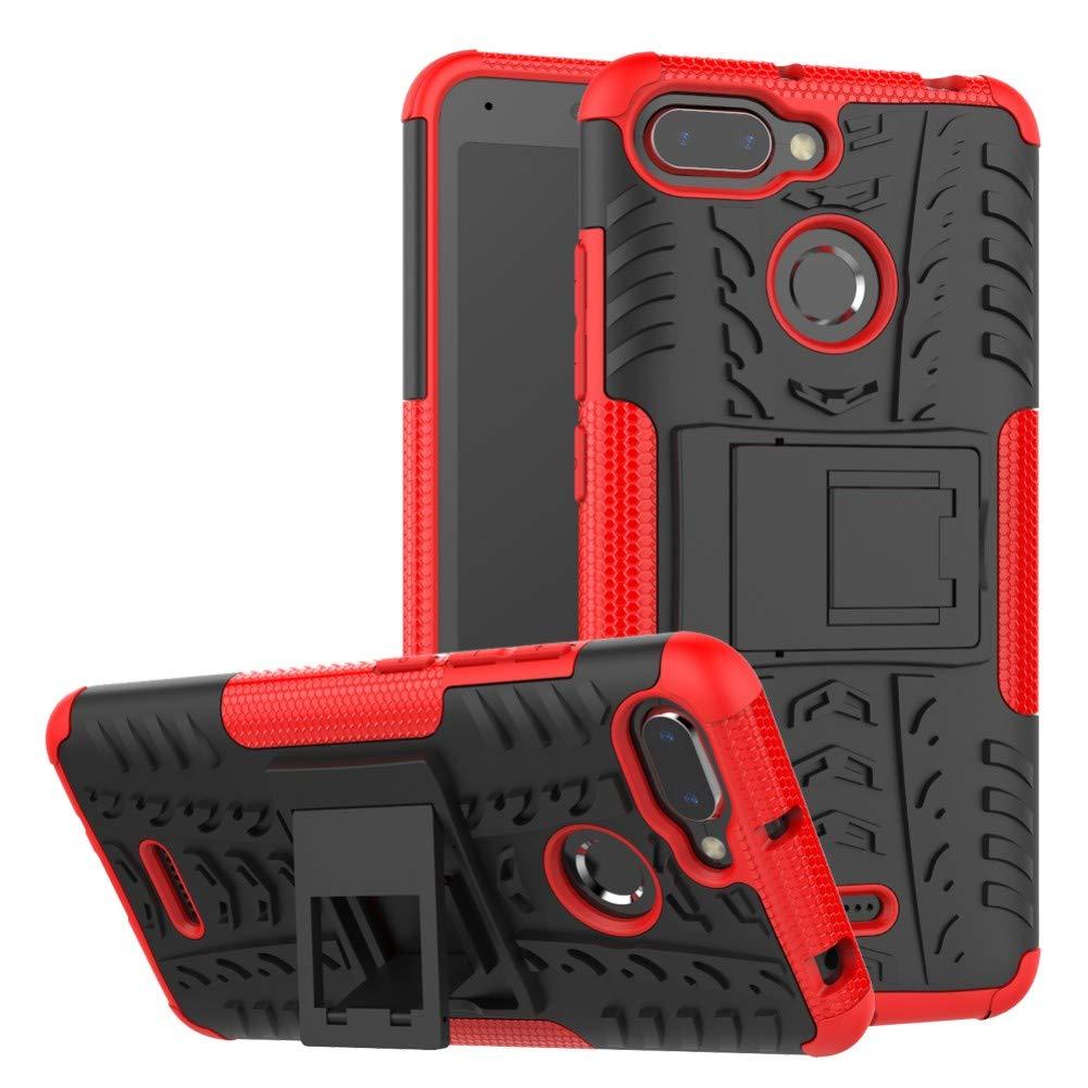 best sneakers 82e93 f5666 Xiaomi Redmi 6 6A Back Case Armor DWaybox Hybrid Rugged Heavy Duty Hard  Case Cover with Kickstand for Xiaomi Redmi 6/Redmi 6A 5.45 Inch (White)