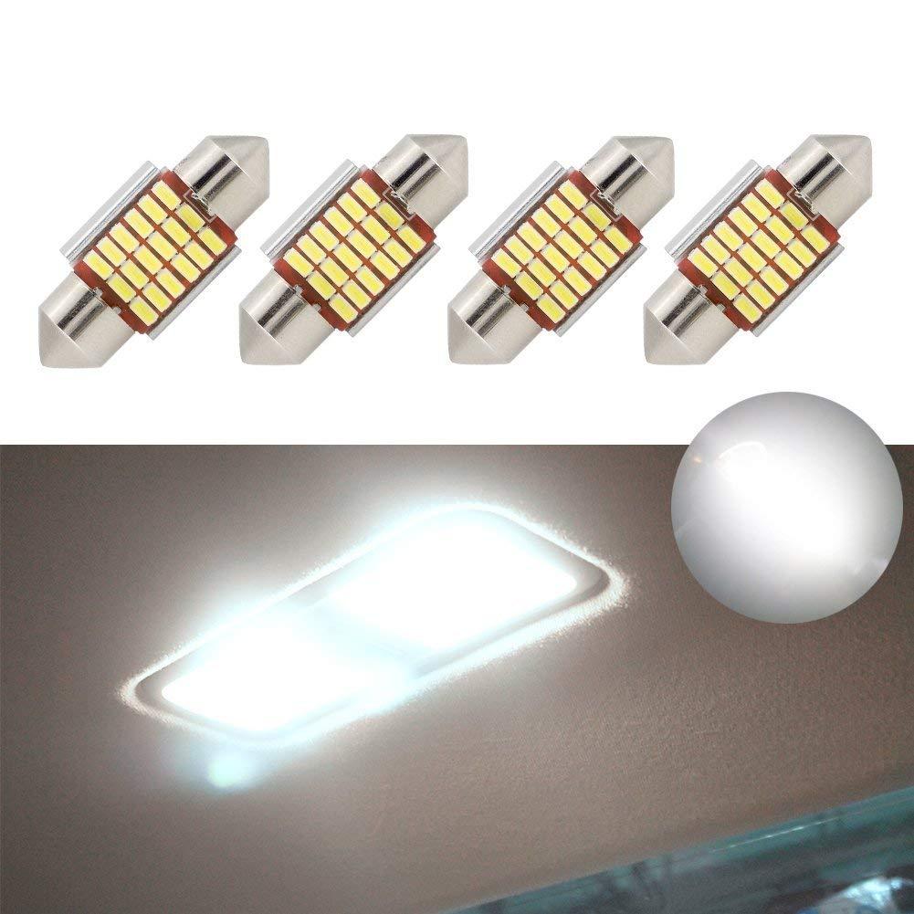 Lampadine a LED Festoon 42mm Errore Canbus Bianco E3175 DE3021 DE3022 Lampadine interne dell'automobile LED 12v 5050 per la luce della piastra di targa a cupola del mirror Vanity jose201606