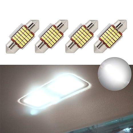 "LED Bombillas Festoon 31mm 1.25 ""Error Canbus Blanco Libre E3175 DE3021 DE3022 LED Car"