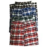 Men Plaid Pajama Bottoms Sleepwear with Pockets- 1/3/4 Pack (4, Large)