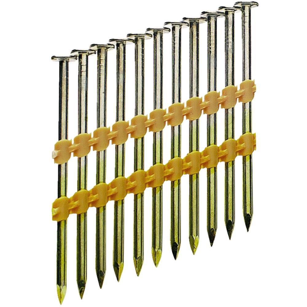 Grip Rite Prime Guard GR04HG1M 21 Degree Plastic Strip Round Head Hot Dipped Galvanized Collated Framing Nails, 2'' x 0.113'' by Grip Rite Prime Guard