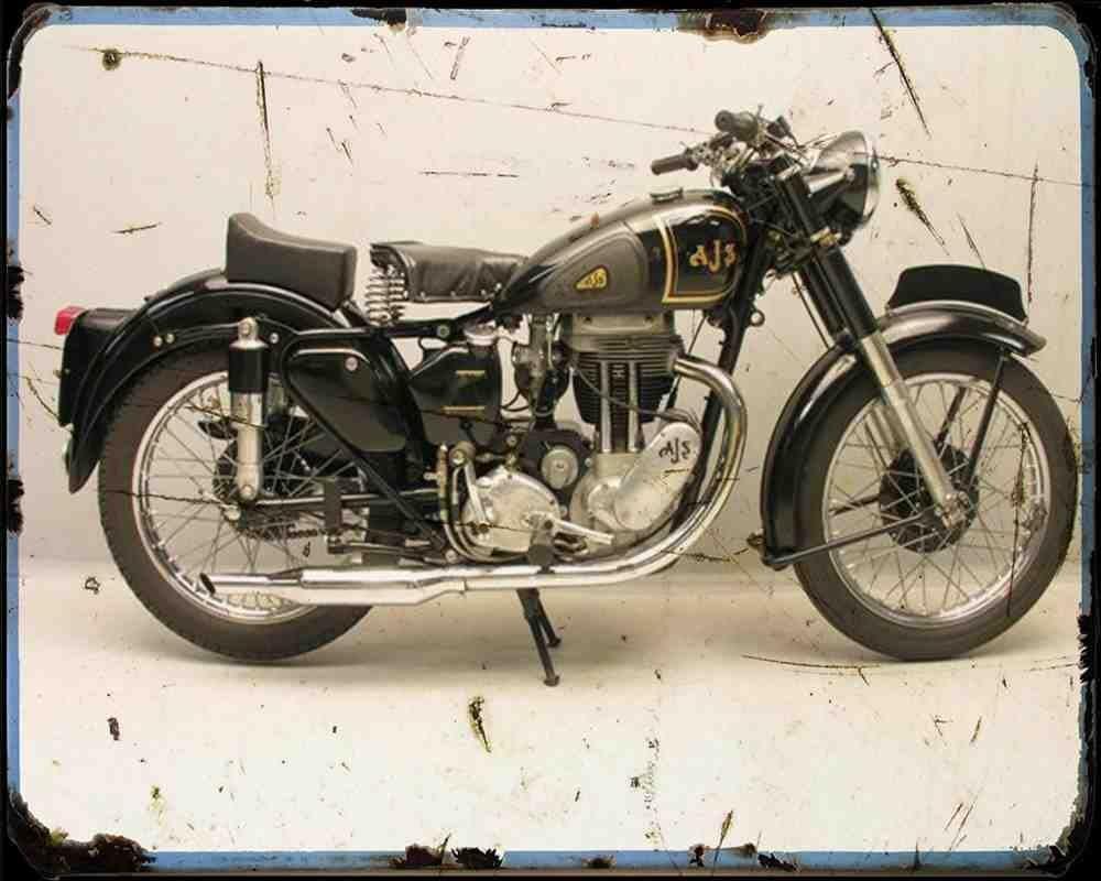 Red Rat AJS 18S 500 A4 Plaque en m/étal Moto Vintage Vieilli