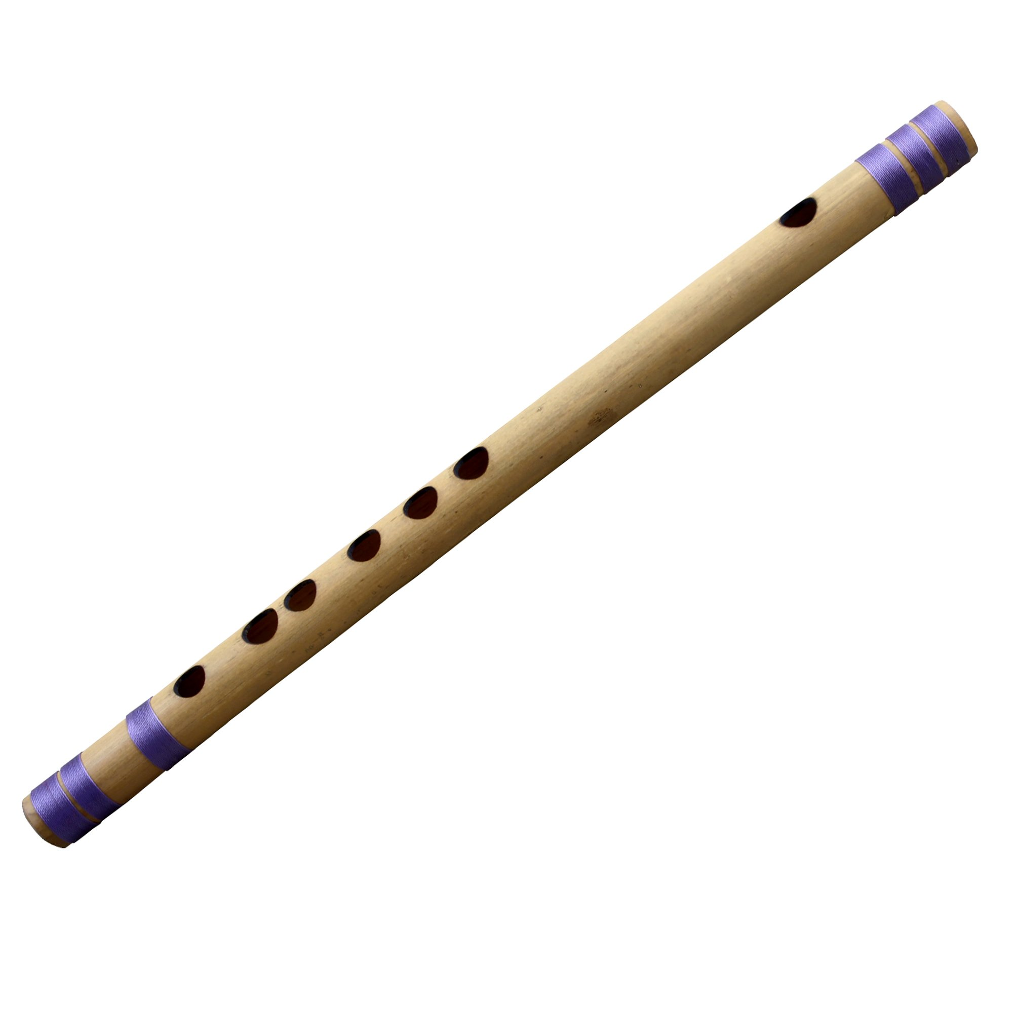 Bamboo Wooden Flute Indian Bansuri, Key-G#, 12 Inches Long - Classical Musicial Instruments for Professional