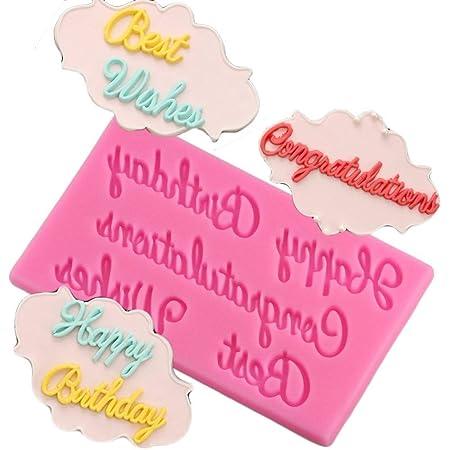 FIOLTY Herramientas Mujiang Feliz cumpleaños Cartas moldes ...