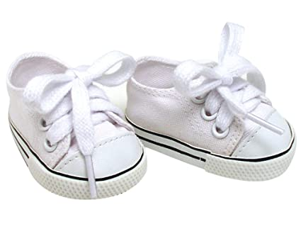fc245387c08a2f Amazon.com  White Doll Sneakers fit American Girl Dolls