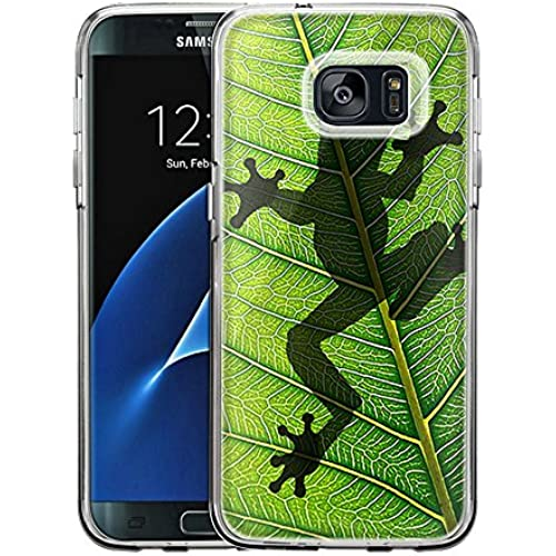 Samsung Galaxy S7 Edge Case, Snap On Cover by Trek Frog Prints on Leafs One Piece Trans Case Sales