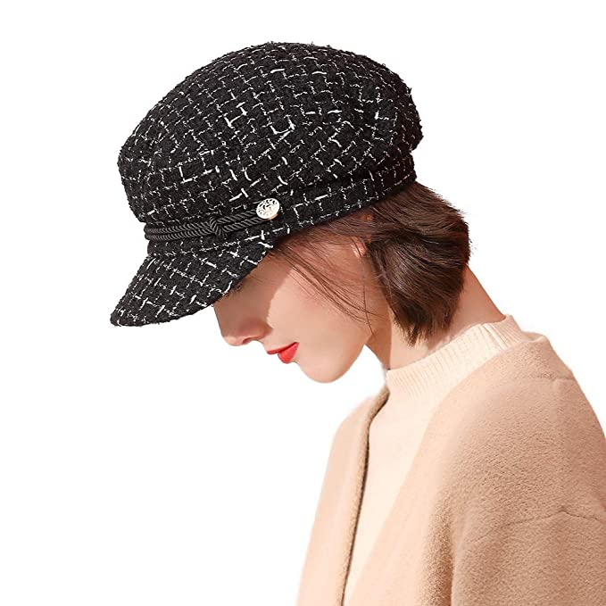 biege Womens bakerboy cap Small medium 57 cm One size
