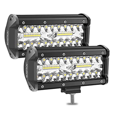 BEAMTRON LED Light Bar 7 Inch 2PCS 240W 24,000LM Led Light Pods Combo Driving Lights Spot Flood Off Road Backup Lights for Trucks Trailer Pickup SUV ATV Jeep RZR Polaris: Automotive