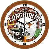 SunTime NCAA Texas Longhorns Helmet Wall Clock