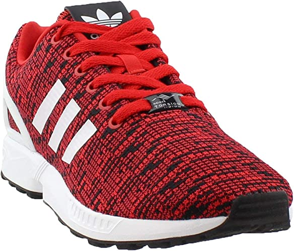 adidas flux red and black