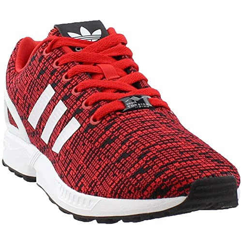 47d79a7c2b934 adidas Originals Men s ZX Flux Graphic Red Core Black Footwear White 7.5 ...