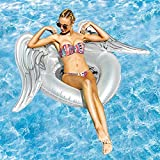 Labu Store Giant White Angel Wing Inflatable Pool Float For Women 2018 Newest Summer Adult Swimming Ring Lounge Water Fun Toys boia piscina