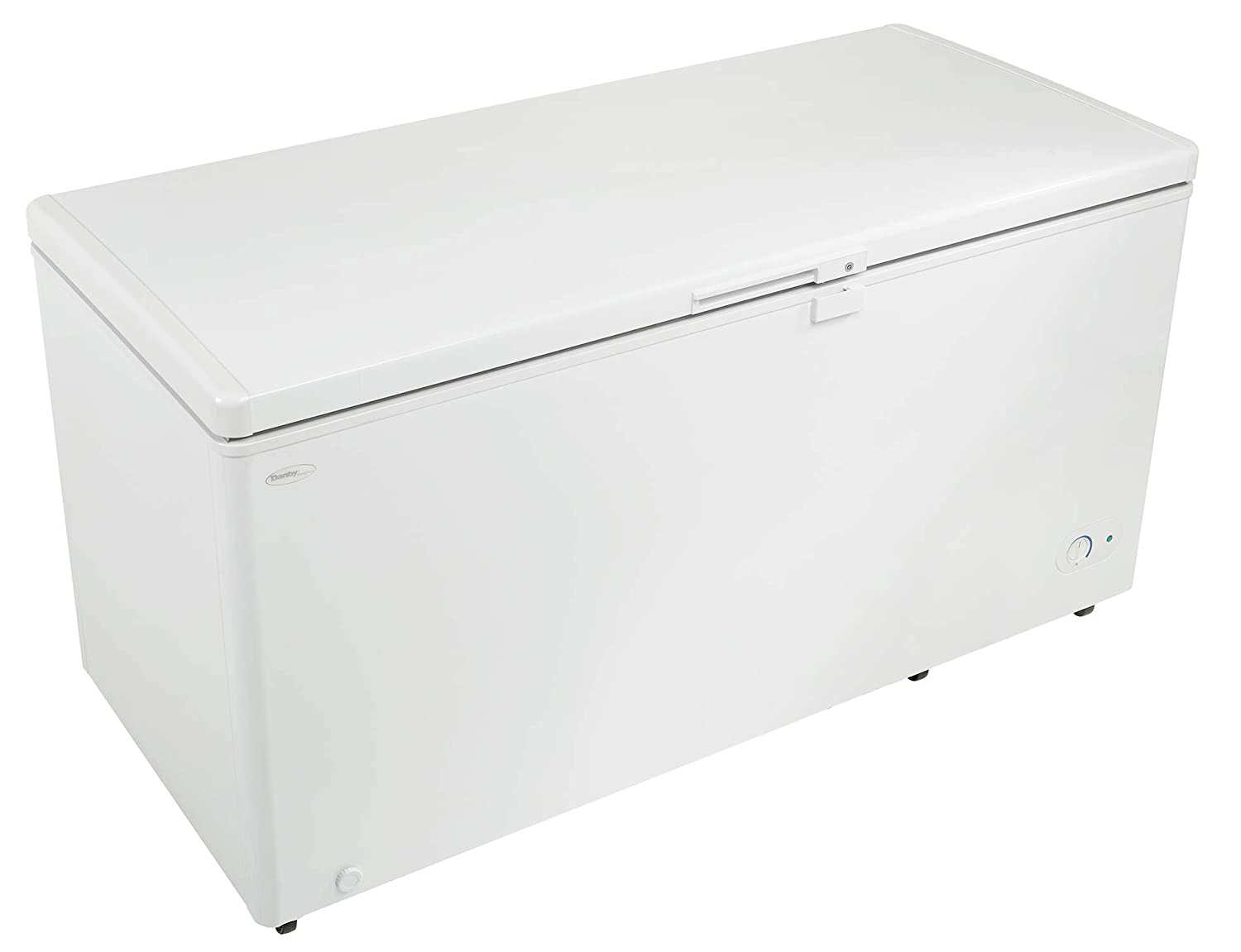 Danby DCF145A1WDD 61' Danby Designer Series Chest Freezer With 14.5 cu. ft. Capacity Front Mounted Thermostat Manual Defrost And Energy Efficient Interior White LED Light