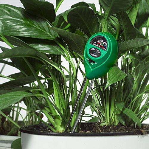 Misuratore di pH del del del terreno - Uiter 3 in 1 Kit di misuratore del suolo con umidità, luce e pH-metro, tester per il terreno per la cura delle piante per casa, giardino, fattoria, prato inglese, interno   esterno all'uso (rosso) | Moda moderna ed el a34e69
