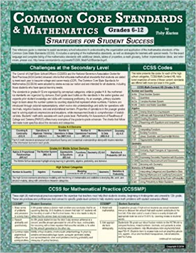 Common Core Standards and Mathematics Arts Grade, 6-12: Strategies for Student Success
