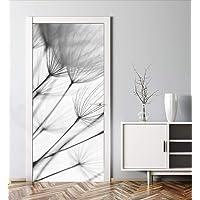 MyMaxxi Deuw verfraaien met deurbehang, zelfklevend, 90 x 200, paardenbloem, zwart, wit, licht, deurfolie, zelfklevend…