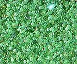 "100% Custom Made (4mm) 1000 Bulk Pieces of Mini Size ""Glue-On"" Flatback Embellishments for Decorating, Made of Acrylic Resin w/ Shiny Iridescent Crafting Rhinestone Crystal Iced Emerald Style {Green}"