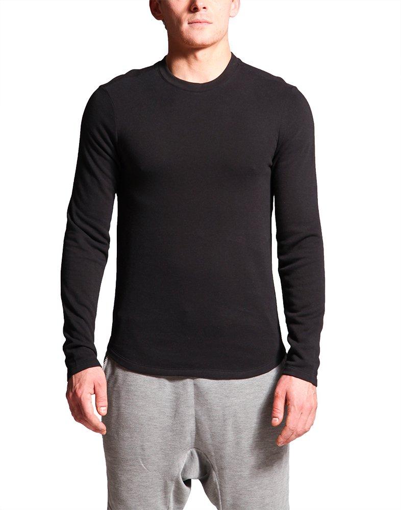 WEST 56 Men Fine Jersey Crewneck Long Sleeve T-Shirt