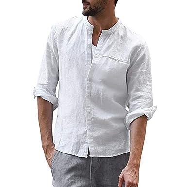 Camicie Uomo Eleganti Classiche,Vintage Casuale Colore Puro