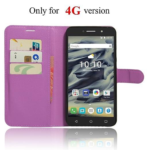 6 opinioni per Alcatel Pixi 4 6 inch (4G) Wallet Cover, SMTR Custodia In Pelle Con Wallet Case