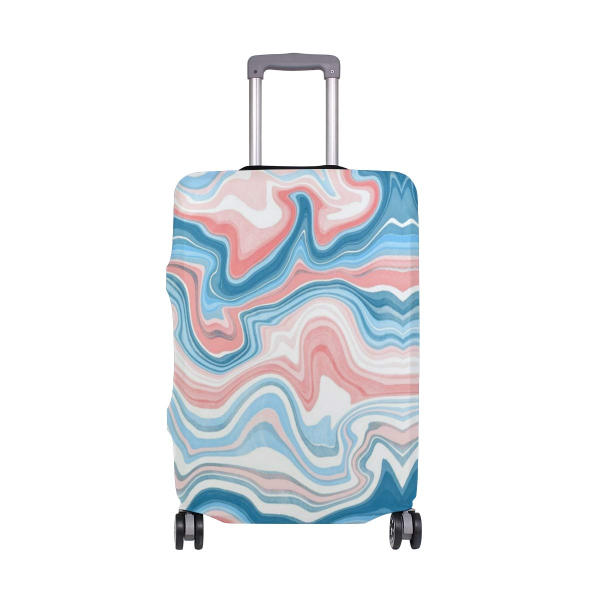 Pink Marble Shine Travel Suitcase Protector Zipper Suitcase Cover Elastic