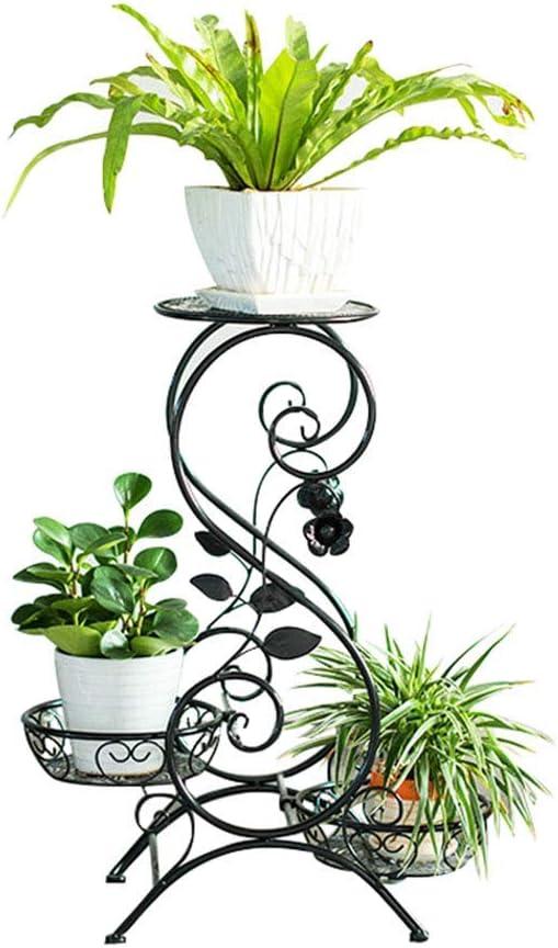 possibilit/é de Mettre 3 Pots de Fleurs Fait Main au Sol Fer forg/é Support pour Plante grasse Verticale Courtyard DX Porte-Fleurs Style europ/éen Support pour Plante en Pot en m/étal