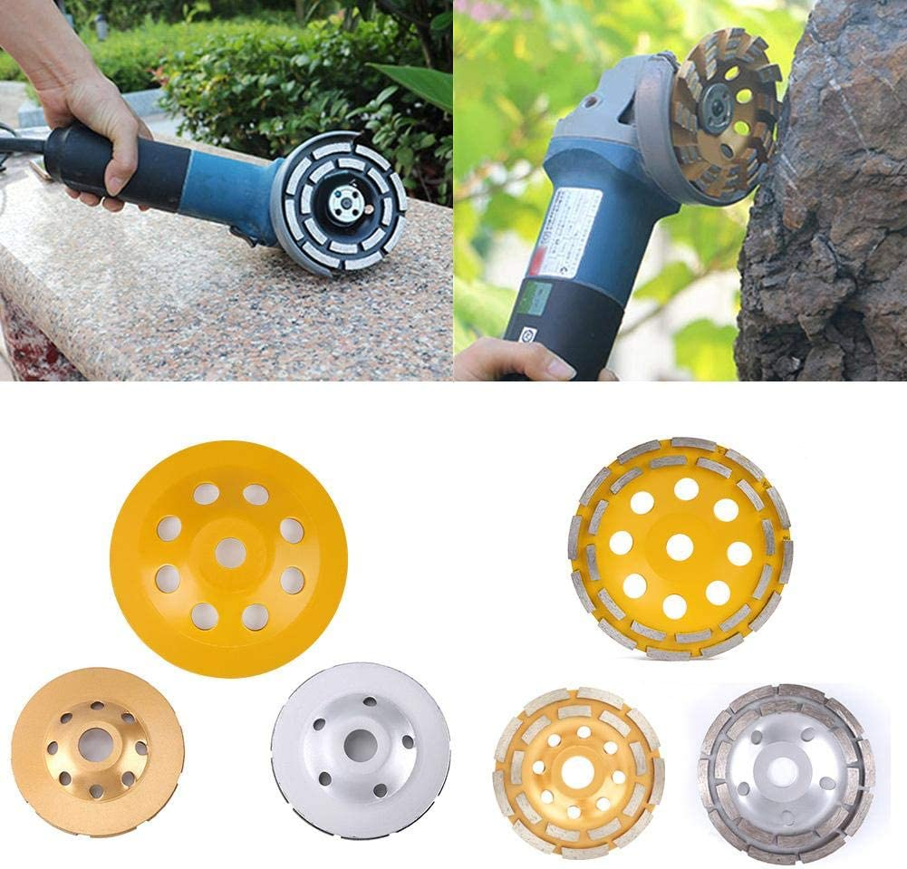 115mm Disque de meulage diamant /à double rang/ée de diamants Brique b/éton coup/é pour meuleuse dangle