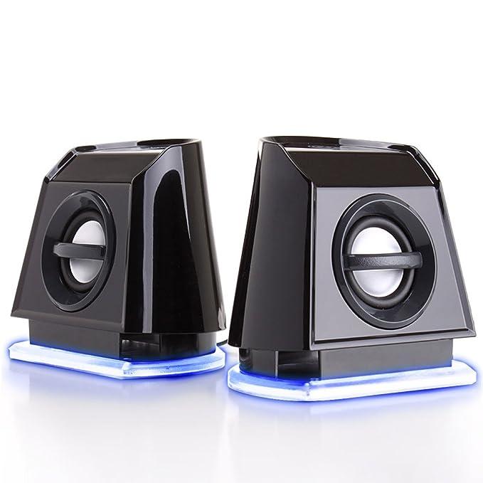 Amazon.com: GOgroove 2MX LED Computer Speakers with Passive ...