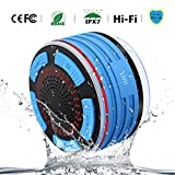 Bluetooth Speakers, HXX IPX7 Portable Wireless Waterproof Speaker with FM Radio and LED Mood lights, Super Bass and HD Sound for Shower, Pool, Beach, Kitchen&Outdoor