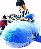 MILEE サメ ぬいぐるみ 特大 サメ shark 抱き枕/鮫ぬいぐるみ/子供プレゼント/お祝い/ふわふわぬいぐるみサメ (135cm)