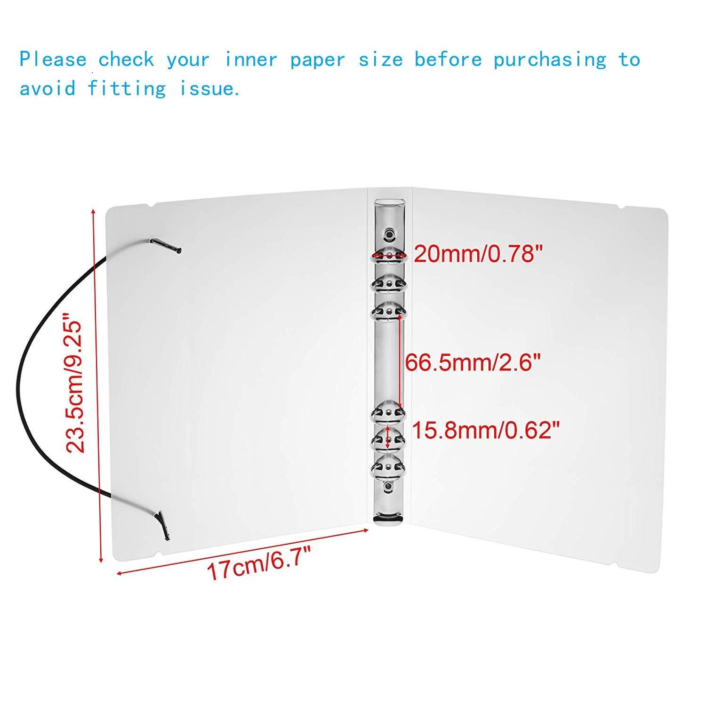 BCP 2pcs translúcido plástico Durable 6-rings cartón pantalla ...