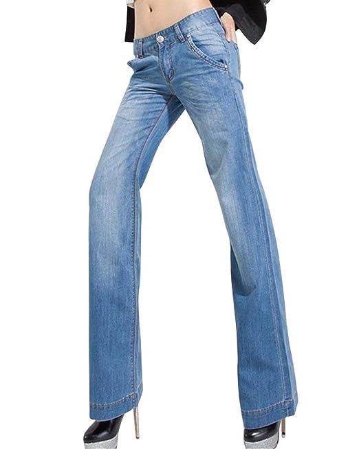 ccbf0b42a Pantalones Vaqueros para Mujer Cintura Alta, Pierna Ancha, Suelto ...