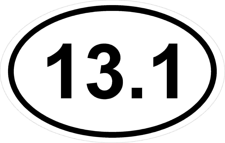 "*Magnet* 3.5"" x 5.5"" Oval: 13.1 Marathon Run"