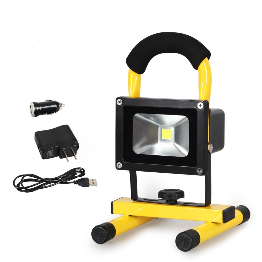 Lights & Lighting Energetic 10w Portable Led Cob Flood Light Flashlight Outdoor Garden Work Spot Lamp Mini Outdoor Camping Powerful Led Flashlight