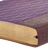 Holy Bible: KJV Large Print Edition: Two-tone Purple / Brown (King James Bible)