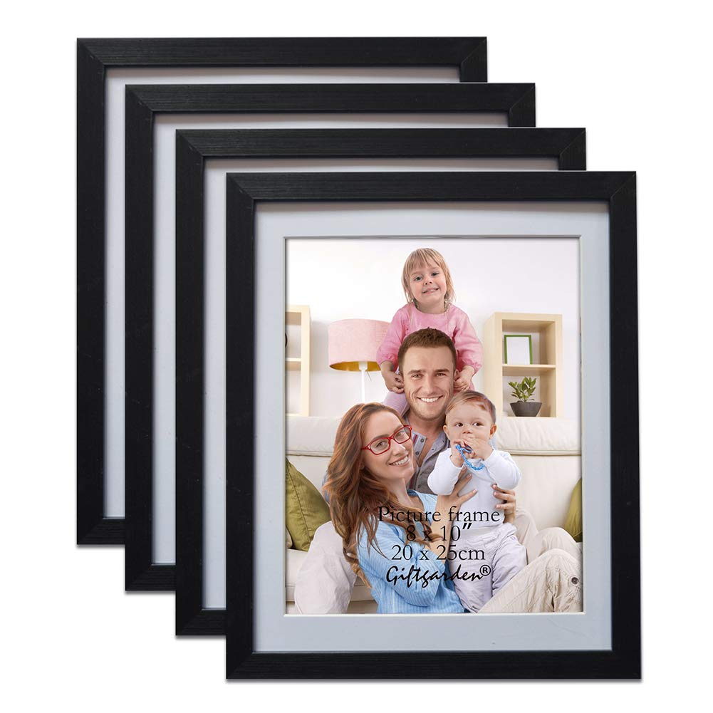 Giftgarden Black 8x10 Picture Frame Wall Decor for 8 by 10 Inch Photo Set of 4 by Giftgarden